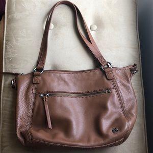 🆕 THE SAK Camel Leather Shoulder Bag